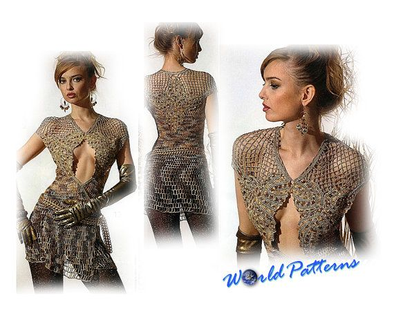 Crochet Patterns Russian Magazine eBook Irish Lace Dresses Wedding Fashion Diagrams Charts - Free Shipping - CRZE0F40P
