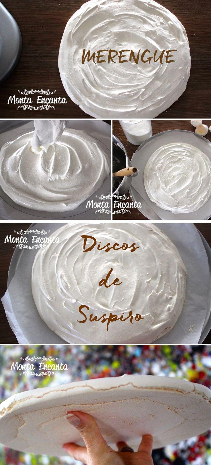 Disco de Suspiro ou de merengue. Leve, aerado, crocante, bem gostoso e muito fácil de fazer. Basta bater claras em neve, adicionar açúcar e dar o formato.