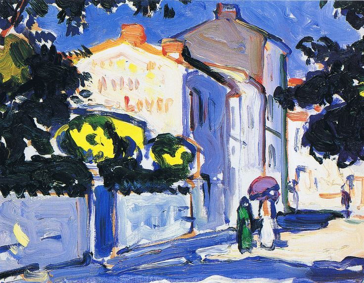 "JOHN SAMUEL PEOPLE - ""Sunlit Street, Royan"""