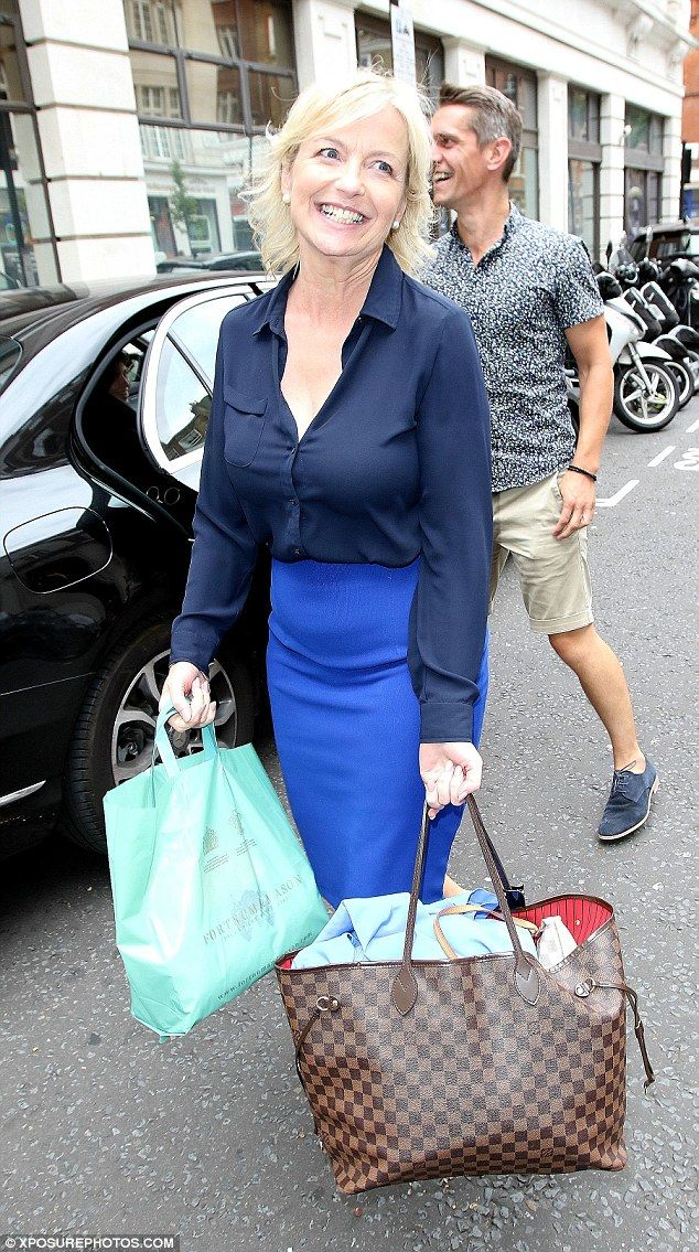 Ready for the dancefloor: Weather presenter Carol Kirkwood was in great spirits as she ven...