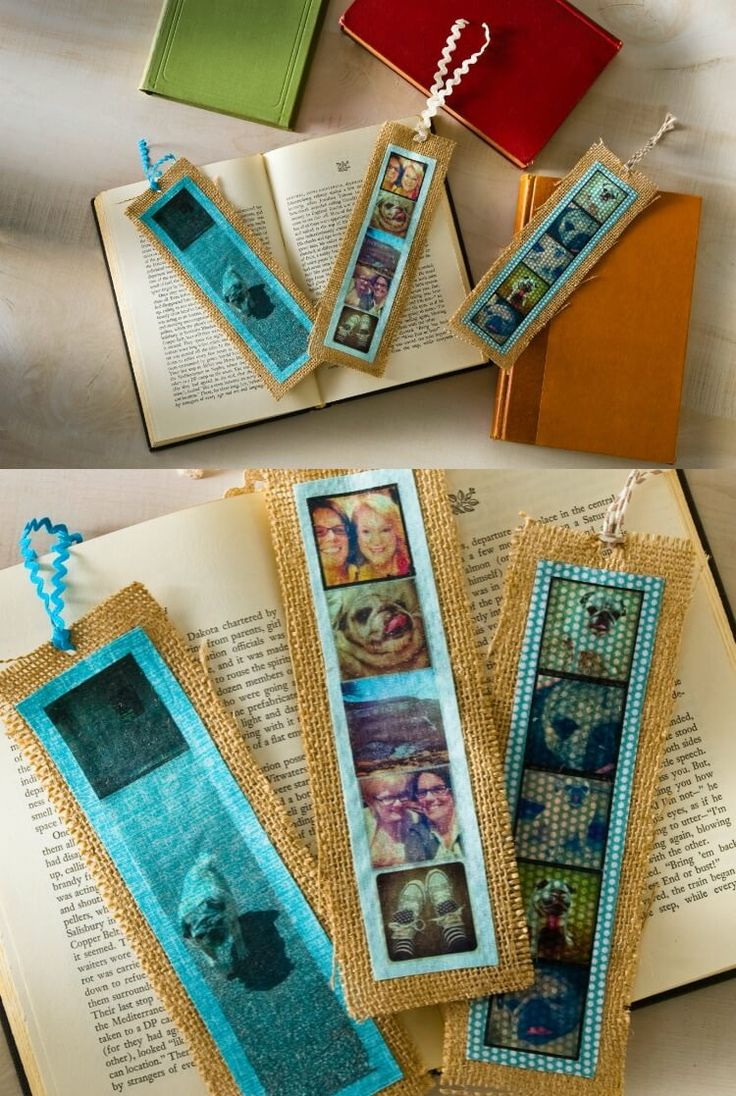 3 Easy Diy Storage Ideas For Small Kitchen: Easy Burlap Personalized Photo Bookmarks