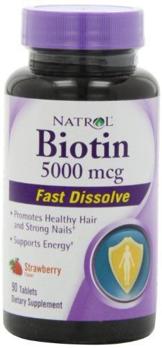 Natrol Biotin 5000 Mcg Fast Dissolve- Strawberry, 90 Count Natrol,http://www.amazon.com/dp/B008NC7SHU/ref=cm_sw_r_pi_dp_lSVTsb0RZ7EDKF6D