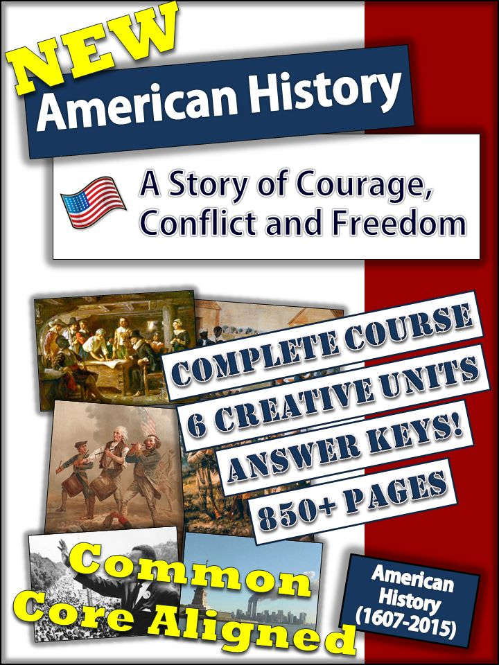 Check out the new American History course for High School! No more late nights for teachers!