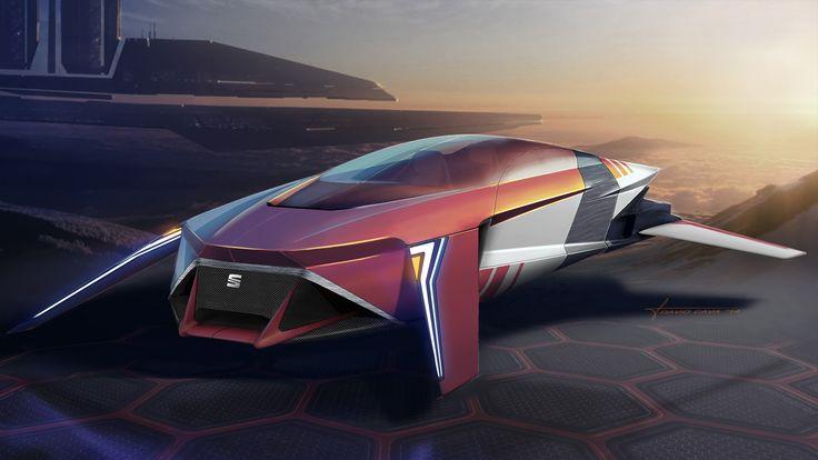 SEAT MLx (Magnetic Levitation Xshape) by David Cava [Futuristic Vehicles: http://futuristicnews.com/category/future-transportation/]