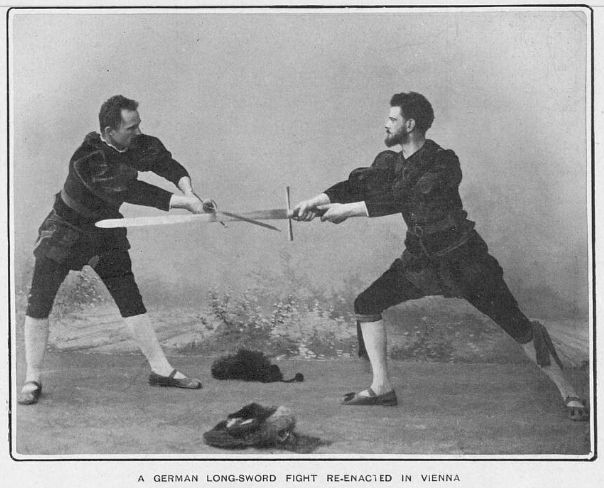 Demonstration of German longsword by the Haudegen Fencing Club, Vienna, circa 1905