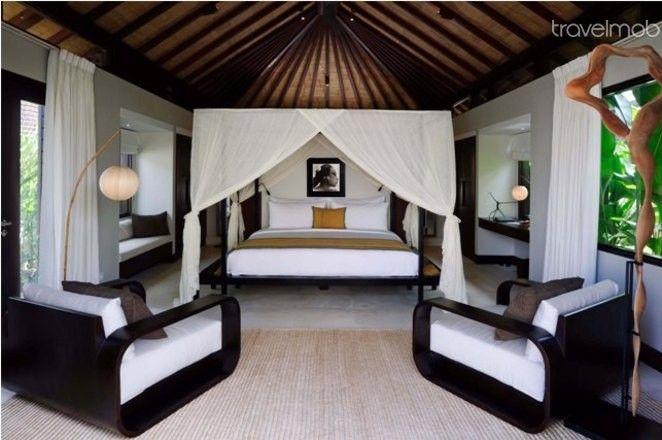 Stylish and romantic Balinese bedroom. #Bali #Bedroom