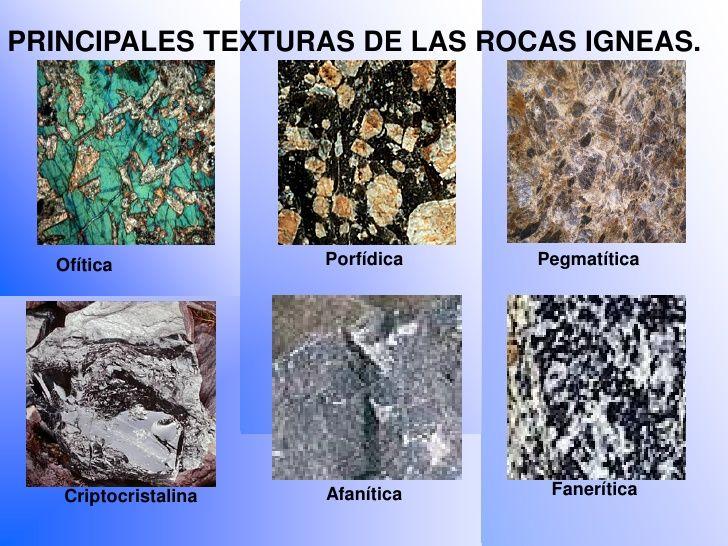 Resultado de imagen de texturas de las rocas magmáticas