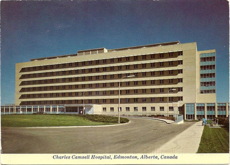 Charles Camsell Hospital, now closed.  Image Courtesy of Vintage Edmonton   https://www.facebook.com/TheVintageEdmonton