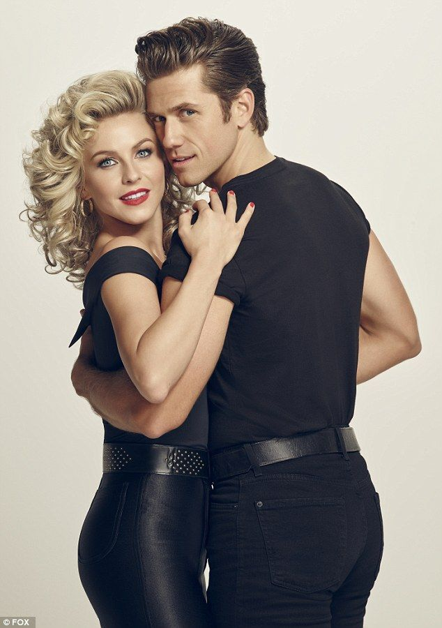 Julianne Hough and Aaron Tveit as Sandra Dee and Danny  in promo shots for Grease: Live musical