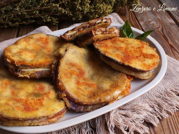 Cotolette+di+melanzane+imbottite