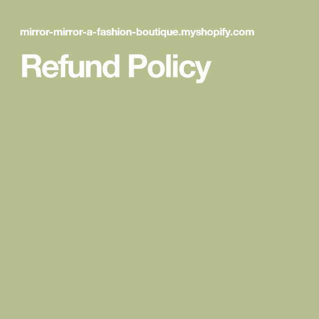 Refund Policy  Refund Policy