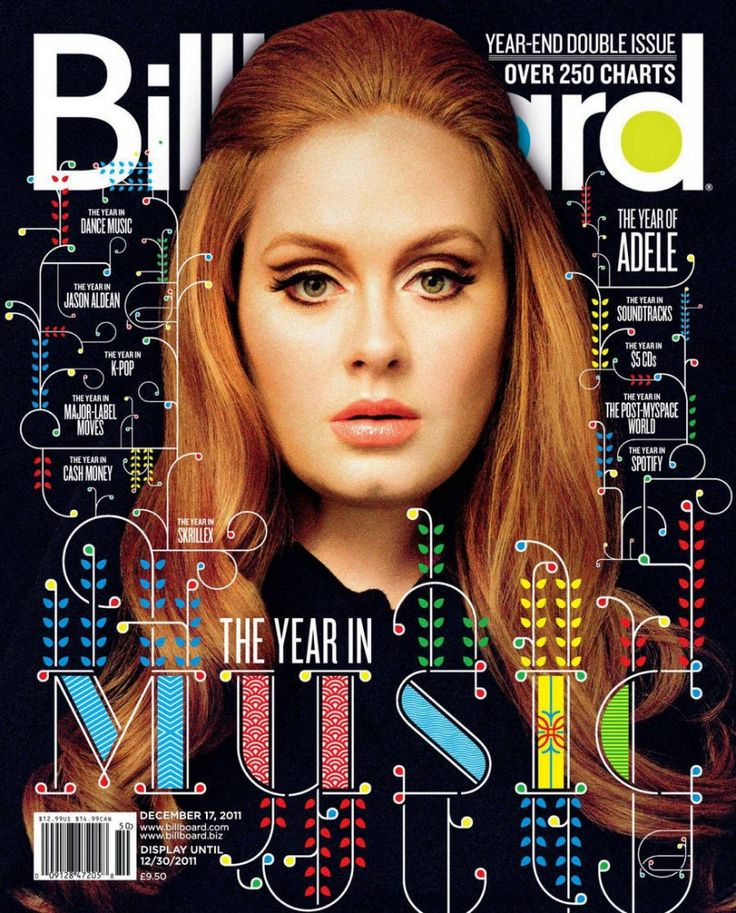 """Billboard Magazine"" Adele Adkins cover"