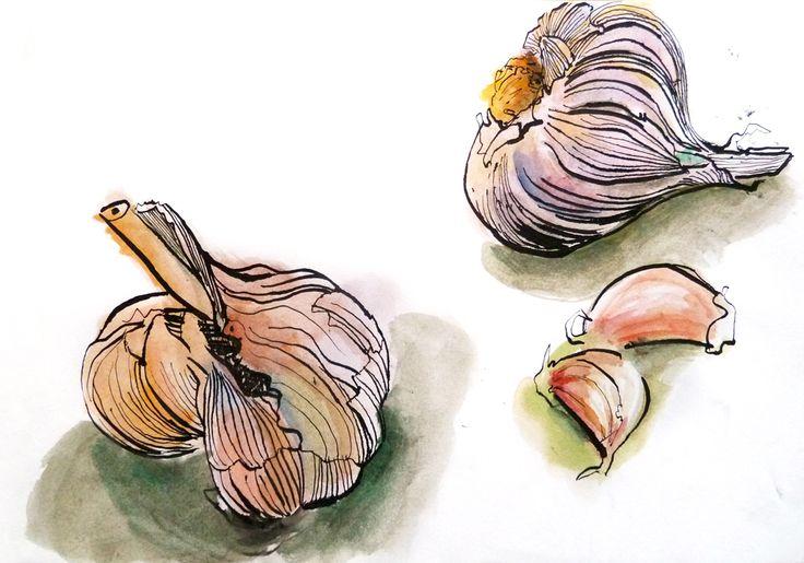 Jean Chiodi. Aguarela e tinta-da-china s/ papel, 29,7 x 42 cm