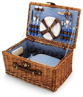 Wicker Picnic Basket - Contemporary - Outdoor Products - by C. Wonder