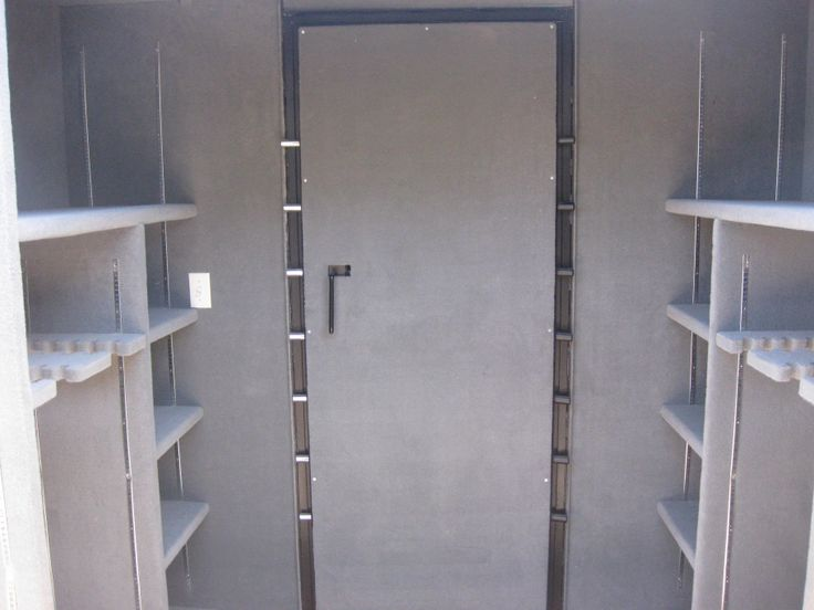 Custom gun vault interior vault room storm shelter for Custom safe rooms