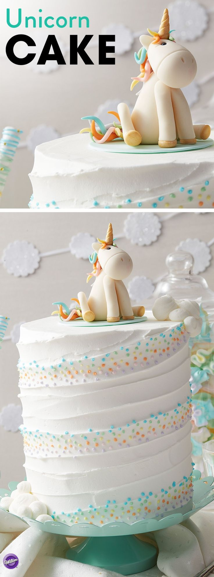 Make all your little one's wishes come true with this Whimsical Unicorn Cake that is great for birthdays and baby showers. With step-by-step instructions on how to make your own unicorn figurine, this Unicorn Cake project is fun for those who are looking for their next baking challenge.