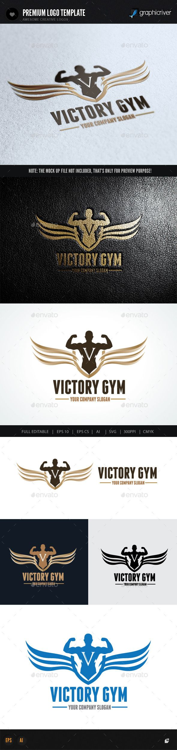 Victory Gym Logo Template #design Download: http://graphicriver.net/item/victory-gym/10079879?ref=ksioks