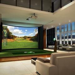 13 Best Images About Cool Golf Simulator Setups On Pinterest Media Room Design City Golf And