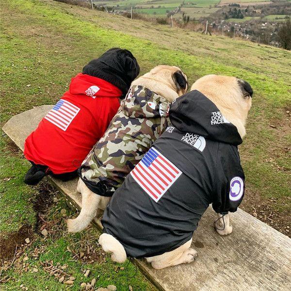 Haustier Hund Windjacke Amerikanische Flagge Drucken Der Hund