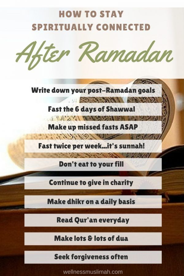 Don't let all of your hard work from Ramadan go to waste. Use these tips to stay connected and on track, in shaa Allah! Click through to read more or repin and save for later!