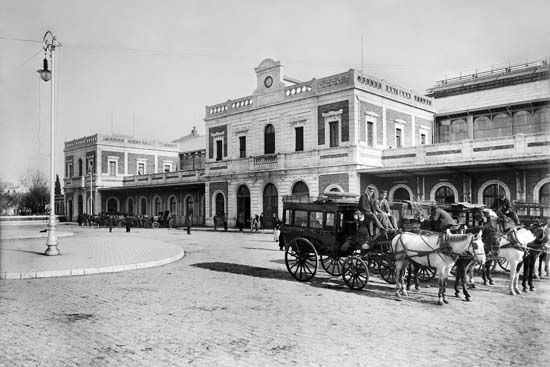 Estación de San Bernardo. Sevilla, 1906-1910 Colección Thomas / IEFC