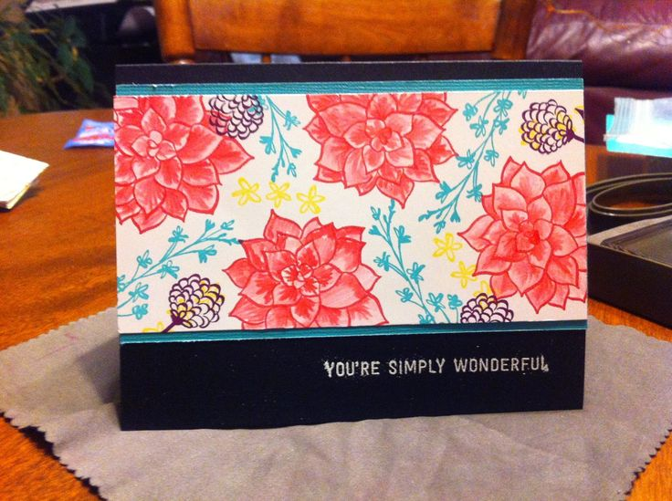 Stampin' With Jac: My Stamping Buddy bails me out on a busy day