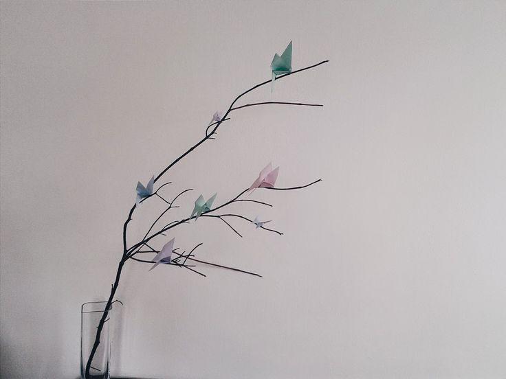 Motyle origami DIY
