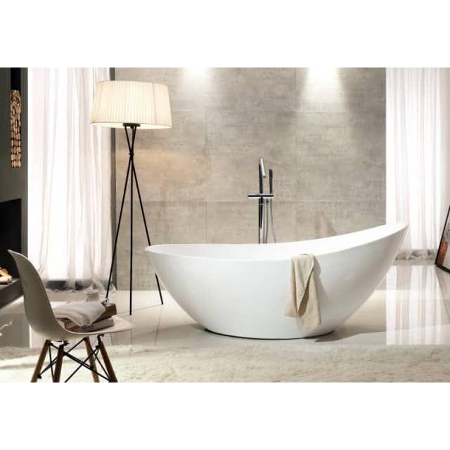 Baignoire Ilot Vice En Acrylique Sanitaire Blanc 183 5 X 78 5 X 77 Cm Bernstein Badshop Com Vasca Freestanding Vasca Bagno