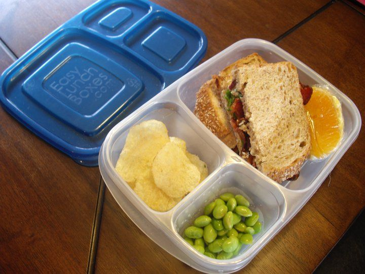 What's in our lunch box: Thanks to Monica from Life is Sooo Good, who brought her daughter, Penelope, this yummy lunch made of BLT on nut br...