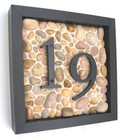 Diy house number post