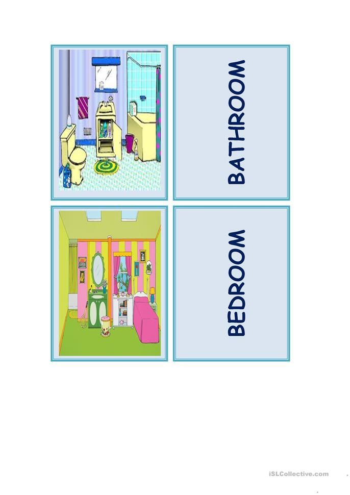 Memory Game Parts Of The House Ensino De Ingles Ensinar