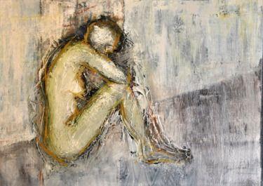 "Saatchi Online Artist maya florence brittain -sakuma; Painting, ""cornered-IV"" #art"