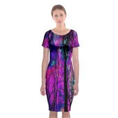 Magic Forest Classic Short Sleeve Midi Dress