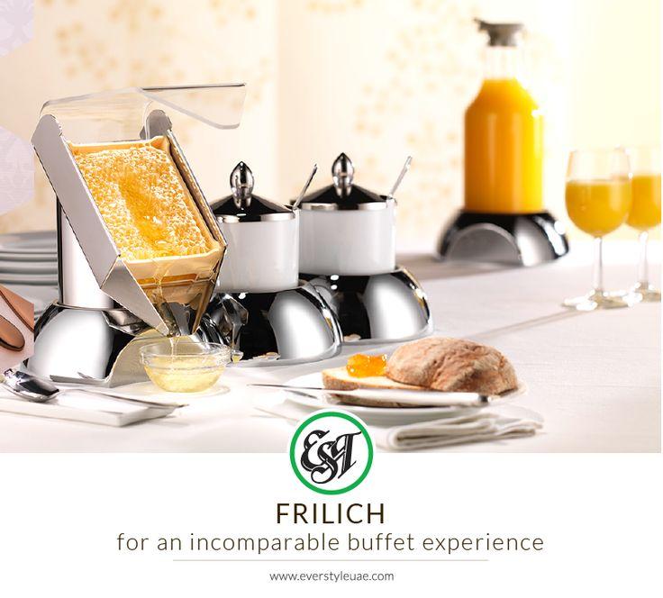 Impart a futuristic appeal and evocative appearance to your buffet with #Frilich's modern kitchenware. #kitchenware #dff #dubai #uae #wtc #dubaitag #lifestyle #hospitality #tableware #crockery #dining #decor #dubaifood #chinaware #design
