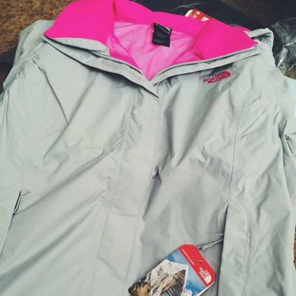 NEW Grey & Pink Northface Resolve Jacket New high rise Grey with Glo Pink Northface resolve jacket North Face Jackets & Coats Puffers