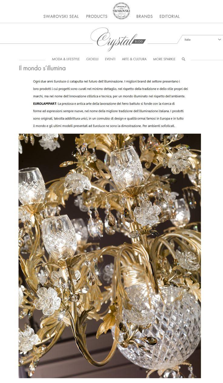 Swarovski® Crystal Blog Thanks to Swarovski  http://crystalblog.com/it/il-mondo-sillumina/ #eurolampart #interiordesign #lighting #luxurylife #chandelier #homecollection #furniture #luxuryfurniture #babychandelier #madeinitaly #home #architect #architects #luxuryrealestate #dreamhouse #housedesign #homedecor #eurolampartoriginal #buyoriginal #picoftheday #instagood #instalike #bestoftheday #madeinitaly #instapic #euroluce #euroluce2017 #salonedelmobile #SalonedelMobile @euro_lamp_art_srl…
