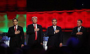 Donald Trump fight night canceled at Republican debate as candidates stage love-in | Daily Mail Online