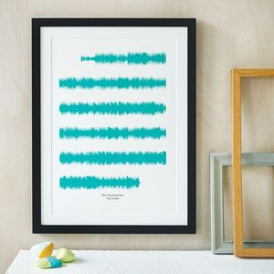 Personalised Favourite Song Soundwaves Print - 30th birthday gifts