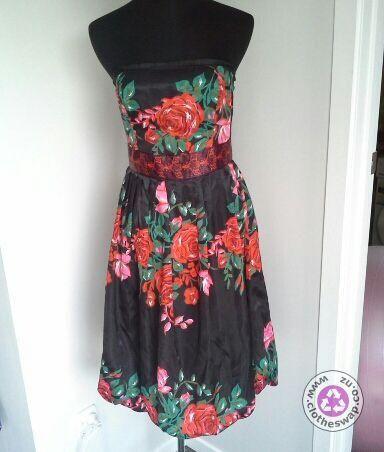 Clotheswap - strapless cocktail dress