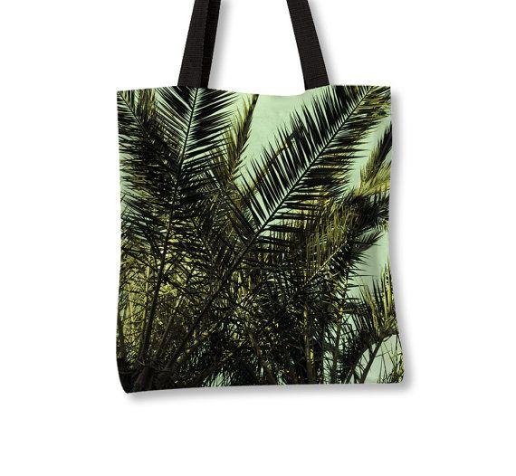 Tropical Tote Bag Palm Tree Bag Tropical Apparel by Macrografiks