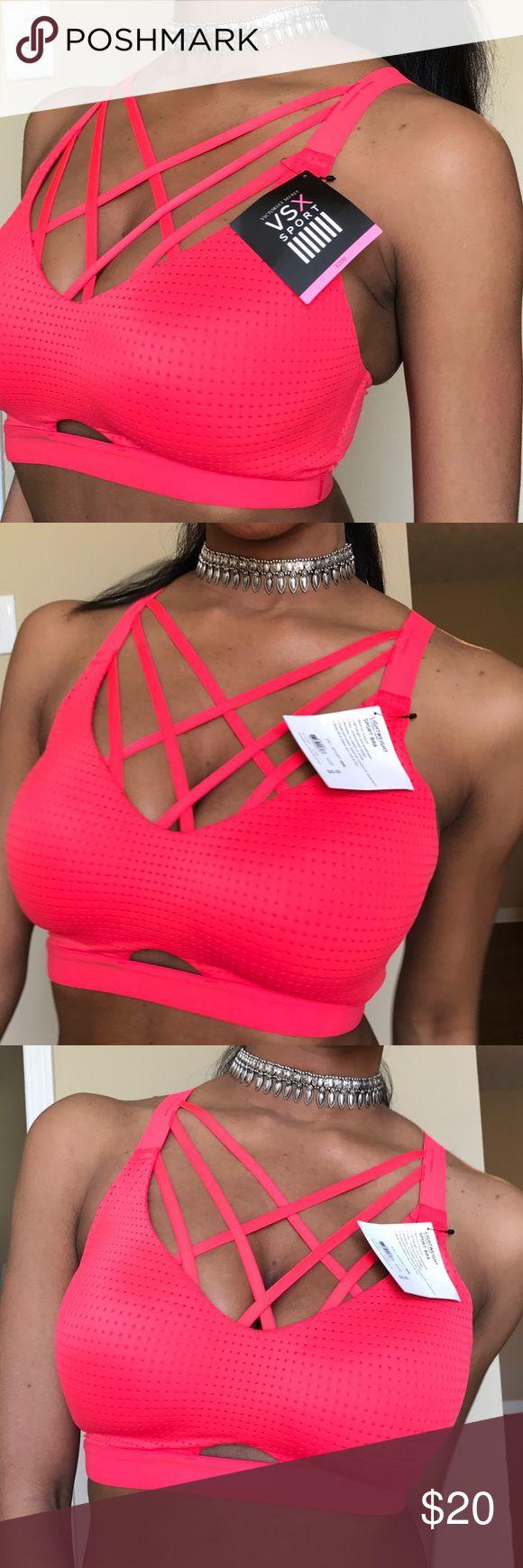 Victoria's Secret Lightweight  Red Sport Bra Strappy! Racer back. Super Comfy. Red. Victoria's Secret Intimates & Sleepwear Bras