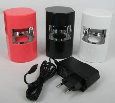 LED LAMP WHITE - SINGLE FINGER - 2W (battery/ac) - PINK, BLACK & WHITE http://www.planetnails.com.au