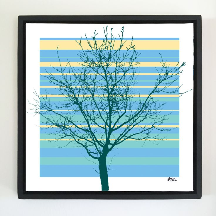 "Overflow series: ""Tree Naked"" 24 x 24 inch, digital art & gloss and matte gel on stretched canvas. 26.5 x 26.5 inch, float frame - black flat. ---------------------------------------- #popart #popartist #digitalart #art #artist #contemporaryart #colorfield #abstractart #gloss #matte #art #canvas #jonsavagegallery"