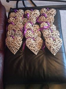 Wicker Wedding Hearts Pew Ends (x15)