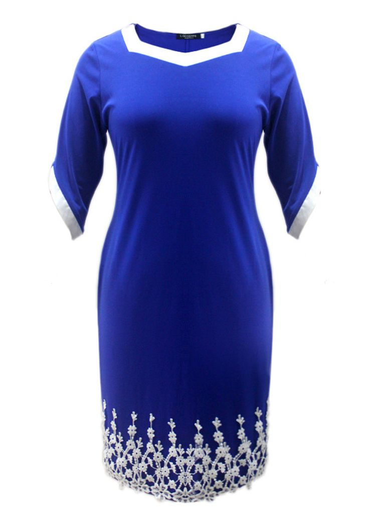 Crochet Lace Half Sleeves Elegant Plus Size Dress_Plus size Dress_Plus size Clothing_Sexy Lingeire | Cheap Plus Size Lingerie At Wholesale Price | Feelovely.com