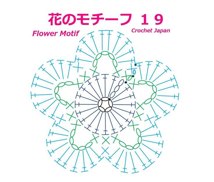 花のモチーフ 19 【かぎ針編み】How to Crochet Flower Motif https://youtu.be/yjY2hlTYP8s くさり編み、細編み、長編み、引き抜き編みで作る、花のモチーフです。 くさり編み5目の輪の作り目に、くさり編み3目で立ち上げて、長編みを19目、編み入れます。 花びらは、2段目の、くさり編み5目のスペースに、長編みを、10目、編み入れます。