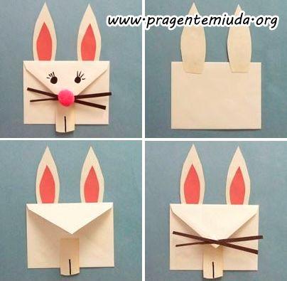 Envelope para a cartinha do coelho Uma atividade muito legal para desenvolver em projetos de Páscoa e planejamentos é o envelope da cartinha do coelho. Cada criança vai escrever sua cartinha pedindo seu ovo de páscoa... e colocar no envelope.