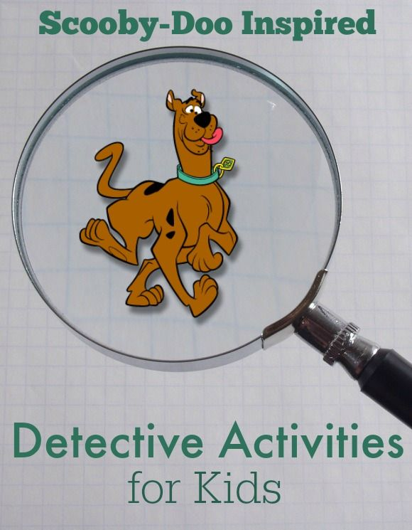 Scooby-Doo Inspired Detective Activities for Kid. Do white crayon with water colors for secret message...or other kind of secret message.