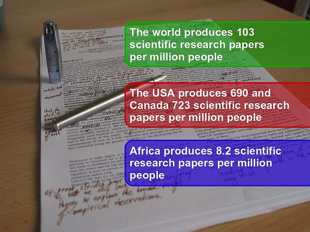 Africa's research output in perspective. Can we afford to do secret science? by Derek Keats, via Flickr