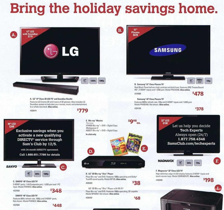 Sam's Club Black Friday 2012 Ad - Black Friday